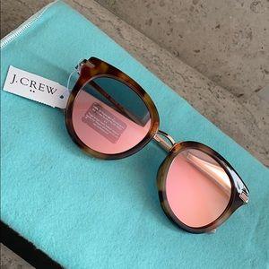 J. Crew Mixed Media Mirrored Tortoise Sunglasses.